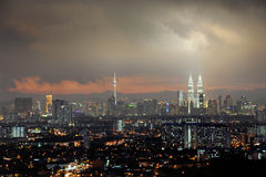 Kuala Lumpur City At night Stock Image