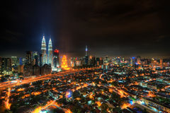 Kuala Lumpur City at night Royalty Free Stock Photo