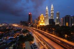 Kuala lumpur city night view Stock Photo