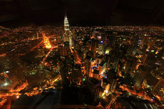 Kuala lumpur city. In nights cape stock images