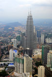 The Kuala Lumpur city skyline Stock Photos