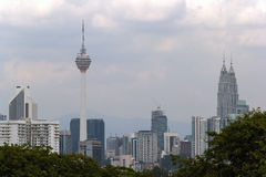 Kuala Lumpur City Skyline Daytime Fotografie Stock