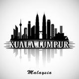 Kuala Lumpur City Skyline Design moderno Foto de archivo libre de regalías