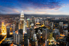 Kuala Lumpur. City skyline at dusk,  is capital city of malaysia, Business district area in , Malaysia Stock Images