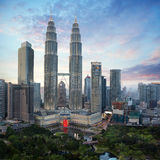 Kuala Lumpur. City skyline in evening, Malaysia cityscape,  is capital city of Malaysia Stock Images