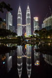 Kuala Lumpur City Skyline from KLCC Park Royalty Free Stock Image