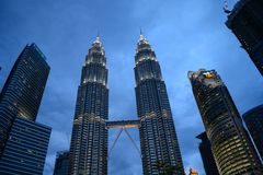 Kuala Lumpur city skyline, Malaysia royalty free stock photo
