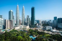 Kuala lumpur. City skyline, Malaysia stock photography
