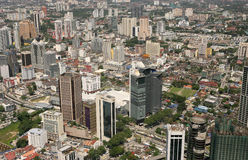 Kuala Lumpur City Skyline. KUALA LUMPUR, MALAYSIA � 15th JULY 2015: Kuala Lumpur and its surrounding urban areas form the most economically growing region in Stock Images