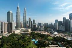 Kuala lumpur city skyline and skyscraper in Kuala lumpur, Malays Royalty Free Stock Photography