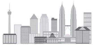 Kuala Lumpur City Skyline Vector Illustration Royalty Free Stock Images