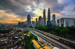 Kuala Lumpur City during sunrise Stock Photography