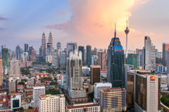 Kuala Lumpur city view with famous Petronas towers Royalty Free Stock Images