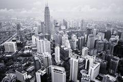 Kuala Lumpur Cityscape fotografering för bildbyråer