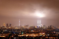 Kuala Lumpur Cityscape. Kuala Lumpur or KL is the capital and the largest city of Malaysia. KL is the fastest growing metropolitan region in the country Stock Image