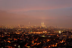 Kuala Lumpur Cityscape. Kuala Lumpur or KL is the capital and the largest city of Malaysia. KL is the fastest growing metropolitan region in the country Royalty Free Stock Image