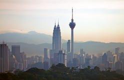 Kuala Lumpur Cityscape - 002 Royalty-vrije Stock Afbeeldingen