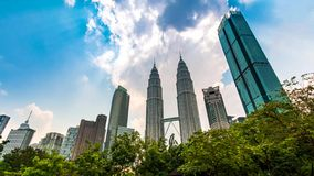 Kuala Lumpur Cityscape del lapso de tiempo de Malasia 4K almacen de metraje de vídeo