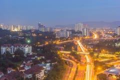 Kuala Lumpur cityscape from high angle, Malaysia Stock Image