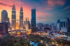 Kuala Lumpur. Cityscape image of Kuala Lumpur, Malaysia during sunset royalty free stock photo