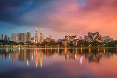 Kuala Lumpur. Cityscape image of Kuala Lumpur, Malaysia during sunset stock photo