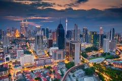 Kuala Lumpur. Cityscape image of Kuala Lumpur, Malaysia during sunset stock photos