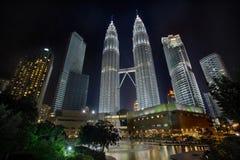 Kuala Lumpur Cityscape at Night Royalty Free Stock Image