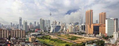Kuala Lumpur Cityscape Panorama Stock Afbeelding