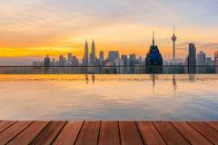 Kuala Lumpur cityscape from the top of Regalia Residence Kuala Lumpur, Malaysia. Stock Photography