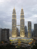 Kuala Lumpur Cityscape with twin tower Royalty Free Stock Photos