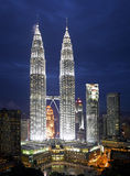 Kuala Lumpur Cityscape with twin tower Stock Photos