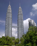 Kuala Lumpur Cityscape with twin tower Stock Photography