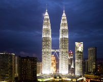 Kuala Lumpur Cityscape with twin tower Royalty Free Stock Images