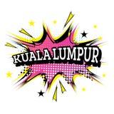 Kuala Lumpur Comic Text no PNF Art Style ilustração do vetor
