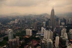 Kuala Lumpur dalla torre della TV fotografia stock