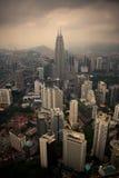 Kuala Lumpur dalla torre della TV fotografie stock