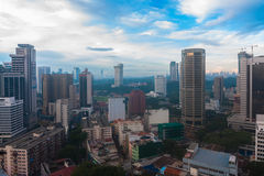 Kuala lumpur during daylight. This urban view taken from height area located at Kuala Lumpur city stock image