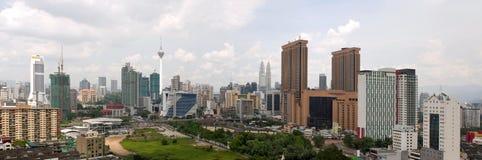Kuala Lumpur Daytime Cityscape Panorama Royalty Free Stock Images