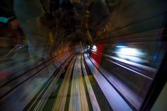 KUALA LUMPUR: 18 de fevereiro de 2017: túnel do metro do interior no mo Fotos de Stock