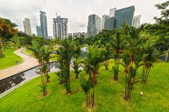 Kuala Lumpur, different perspective Royalty Free Stock Image