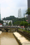 Kuala Lumpur Downtown Stock Foto's