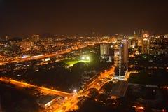 Kuala Lumpur en la noche Fotos de archivo libres de regalías