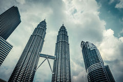 KUALA LUMPUR - Feb 15: View of The Petronas Twin Towers on Feb 1 Stock Image