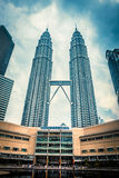 KUALA LUMPUR - Feb 15: View of The Petronas Twin Towers on Feb 1 Royalty Free Stock Images