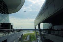 Kuala Lumpur 2017, 18 Februari De Internationale Luchthaven van Kuala Lumpur Royalty-vrije Stock Foto