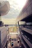 Kuala Lumpur 2017, 18 Februari Het architectuurontwerp van Kuala Lumpur International Airport Stock Foto
