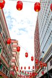KUALA LUMPUR: 19 februari, 2017: Rode lichtenchinatown Royalty-vrije Stock Afbeeldingen