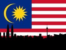 Kuala Lumpur with flag Royalty Free Stock Image