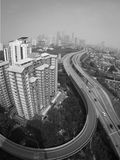 Kuala Lumpur in foschia Fotografie Stock