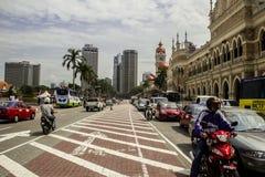 Kuala Lumpur gammala gator Arkivfoton